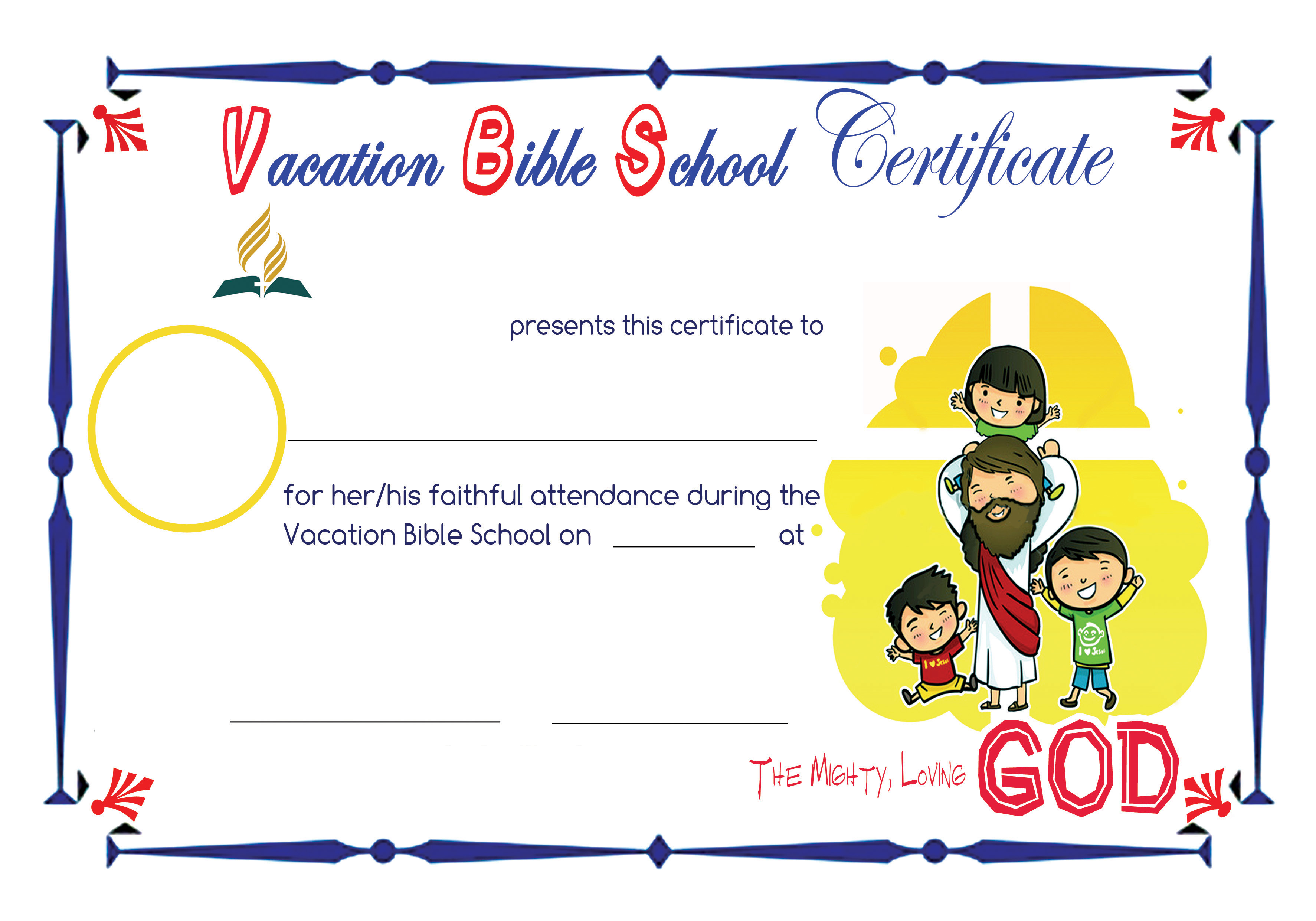 6 Best Images Of Printable Vbs Certificates