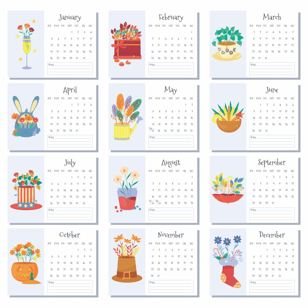 7 Best Images Of Printable Months Of Year Cards