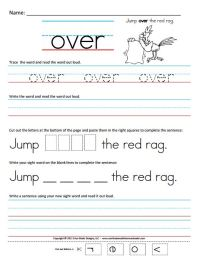 7 Best Images of Free Printable Sight Word Worksheets ...