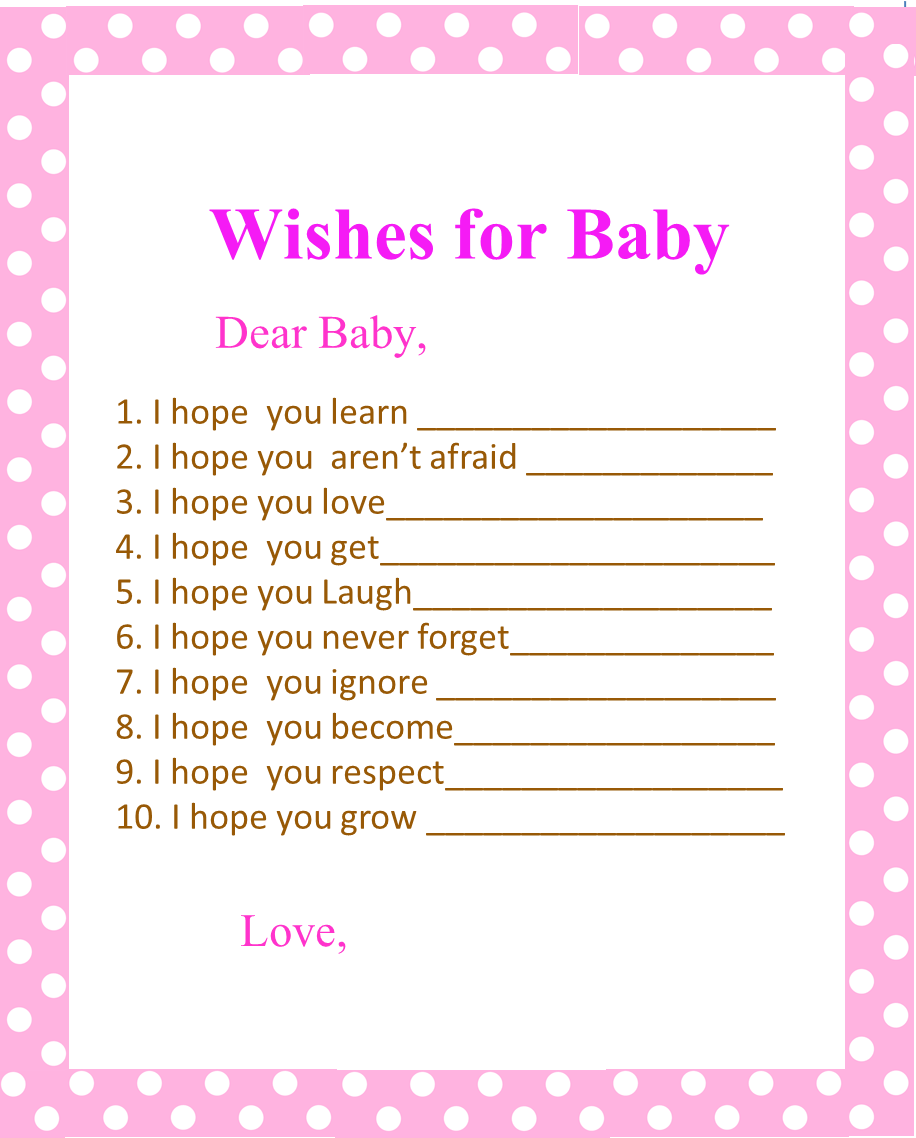 image of baby shower wishes for baby template free printable baby