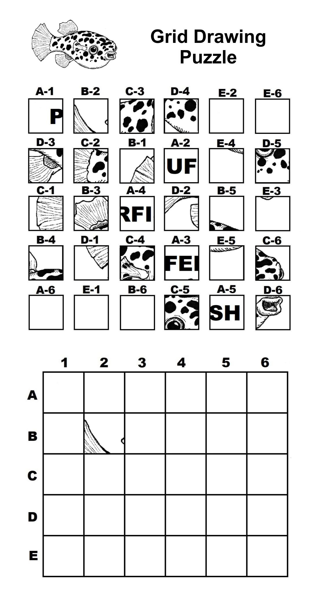 5 Best Images Of Mystery Grid Drawing Worksheets