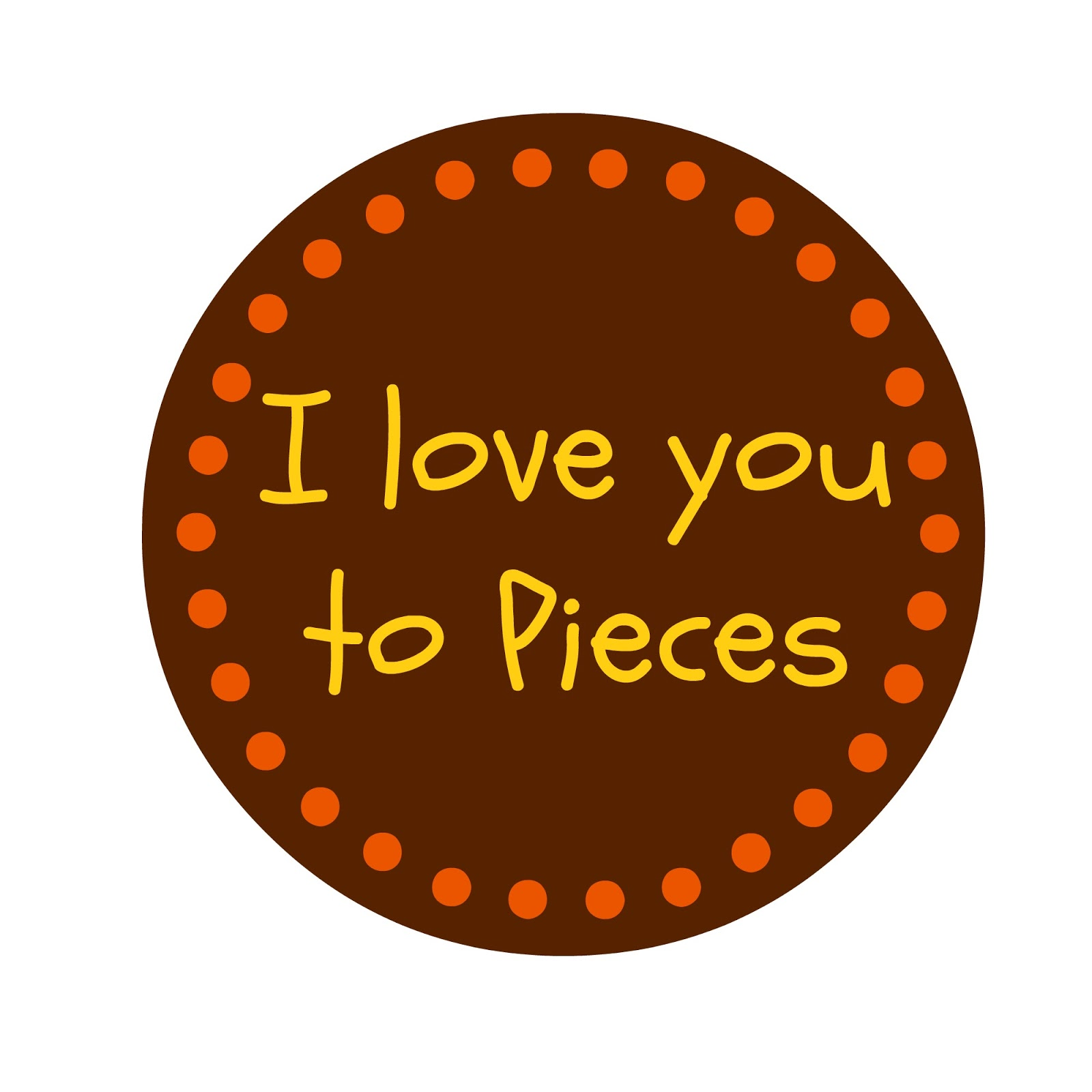 photo regarding I Love You to Pieces Printable identified as Delight in Yourself In the direction of Sections Printable - Calendar year of Refreshing H2o
