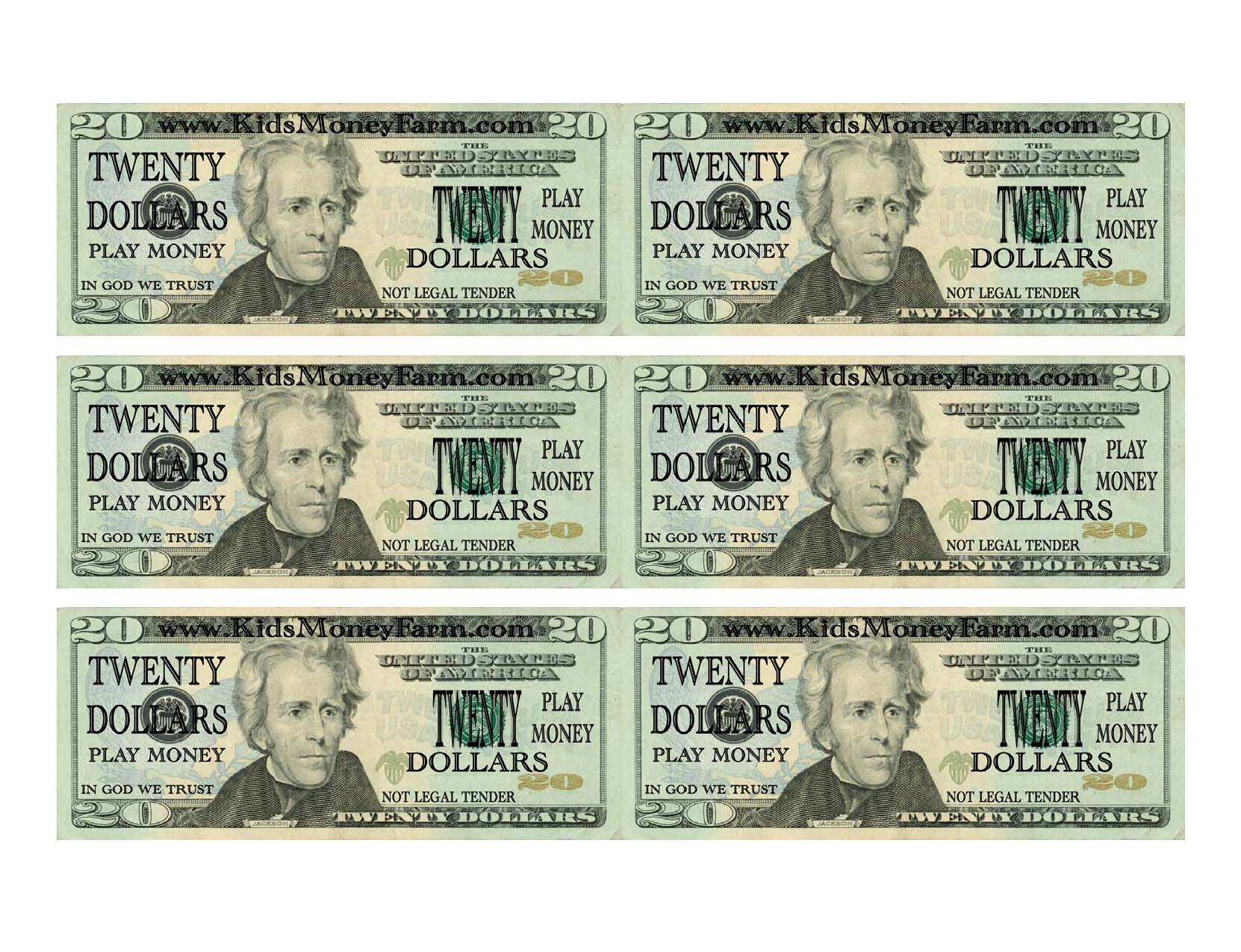 5 Best Images Of Printable Fake Money Bills