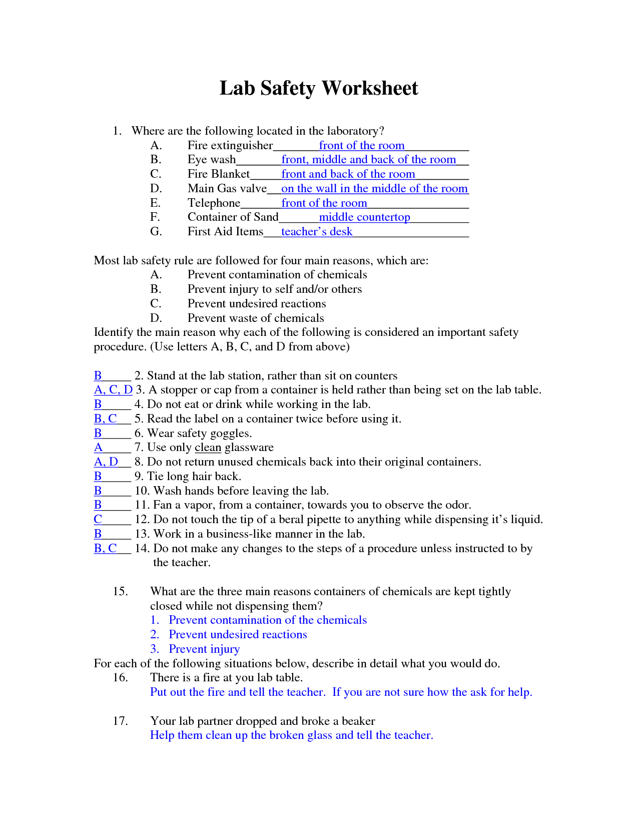 6 Best Images Of Printable Lab Worksheet
