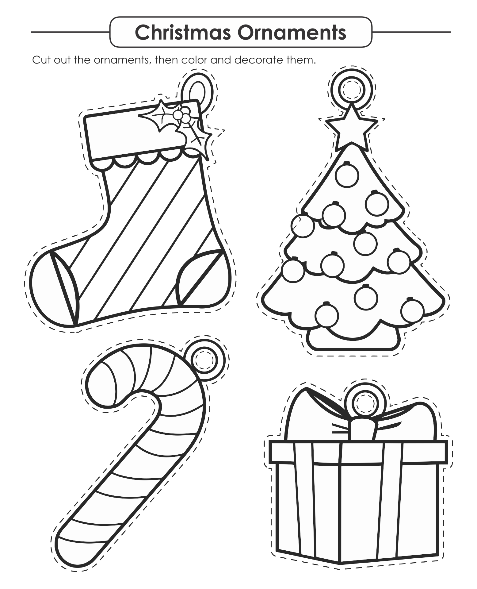 4 Best Images Of Printable Christmas Crafts For