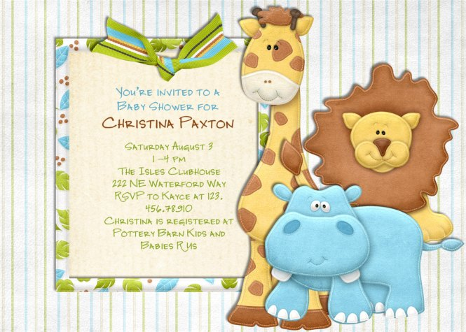 free printable jungle theme baby shower invitations, Baby shower