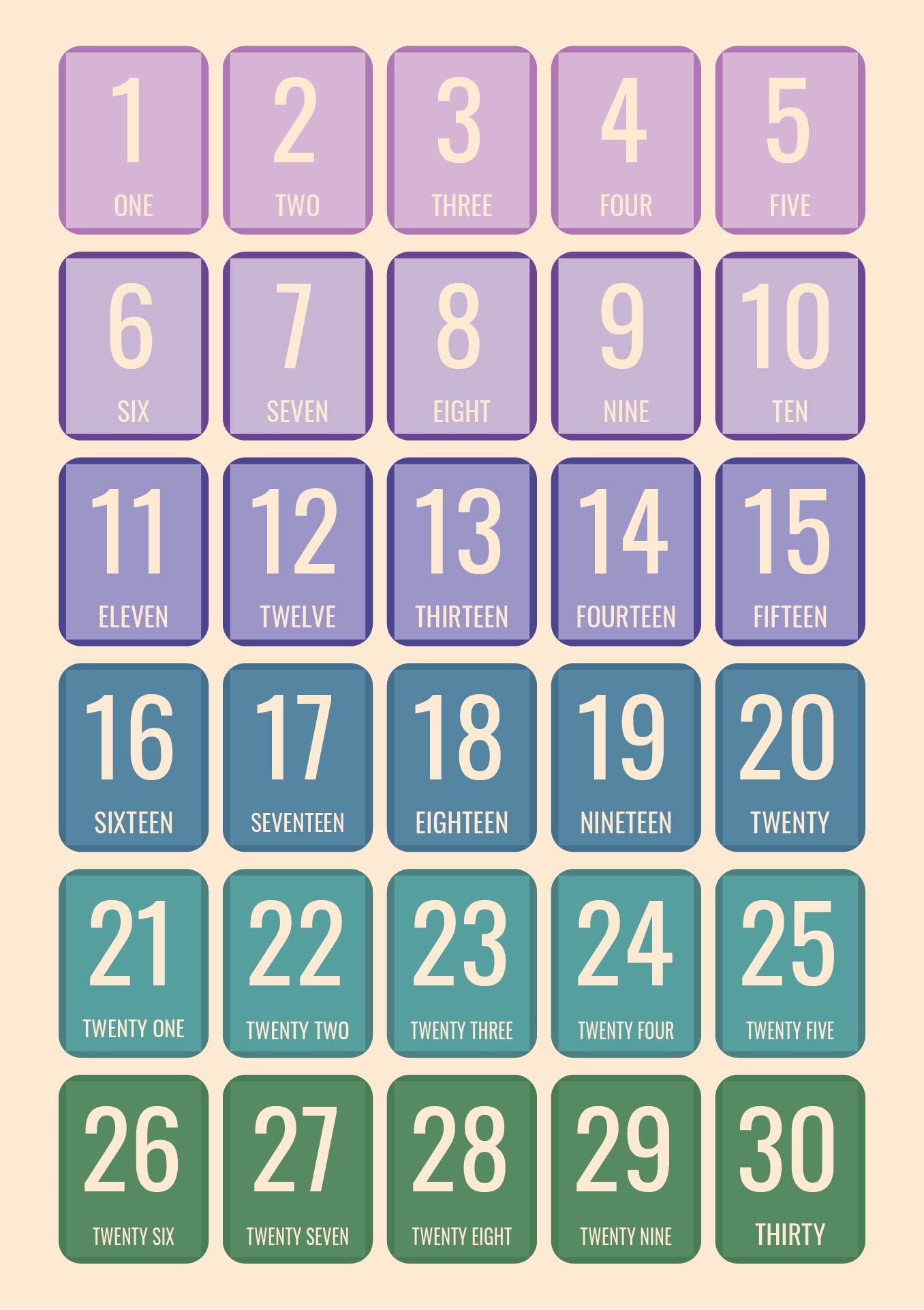 9 Best Images Of Printable Numbers 1 30