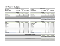 Bi Weekly Budget Template An Easy Way To Plan A Budget ...