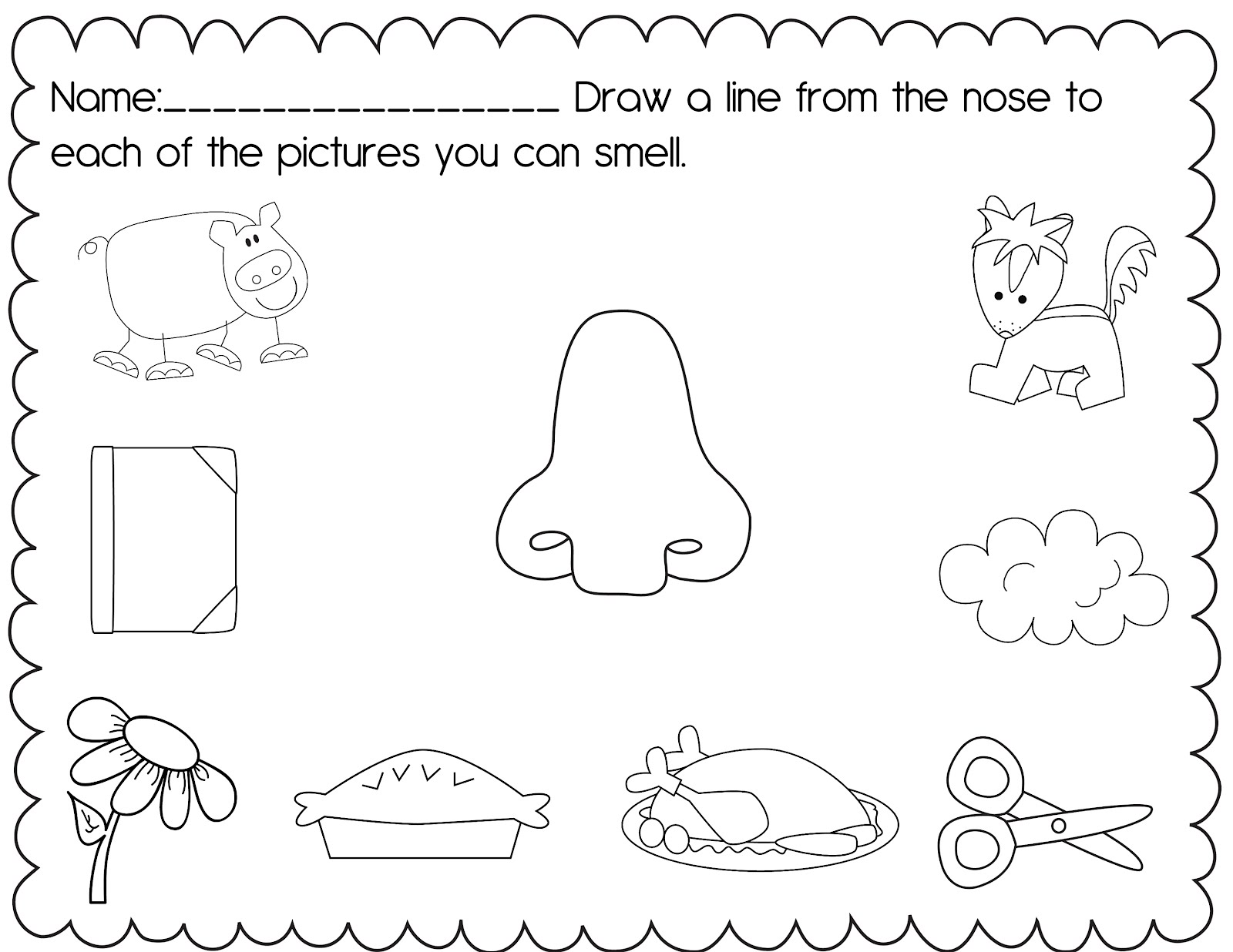 Science Worksheets For Grade 1 Sense Organs