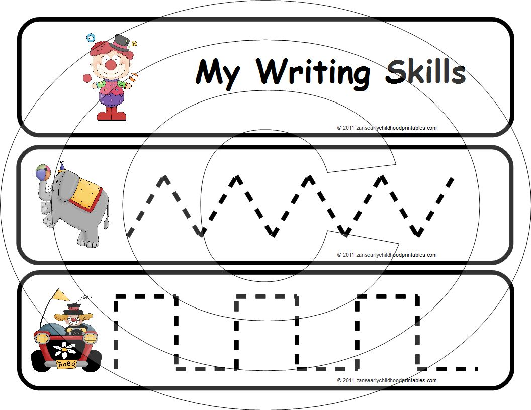 Preschool Pre Writing Skill Worksheets
