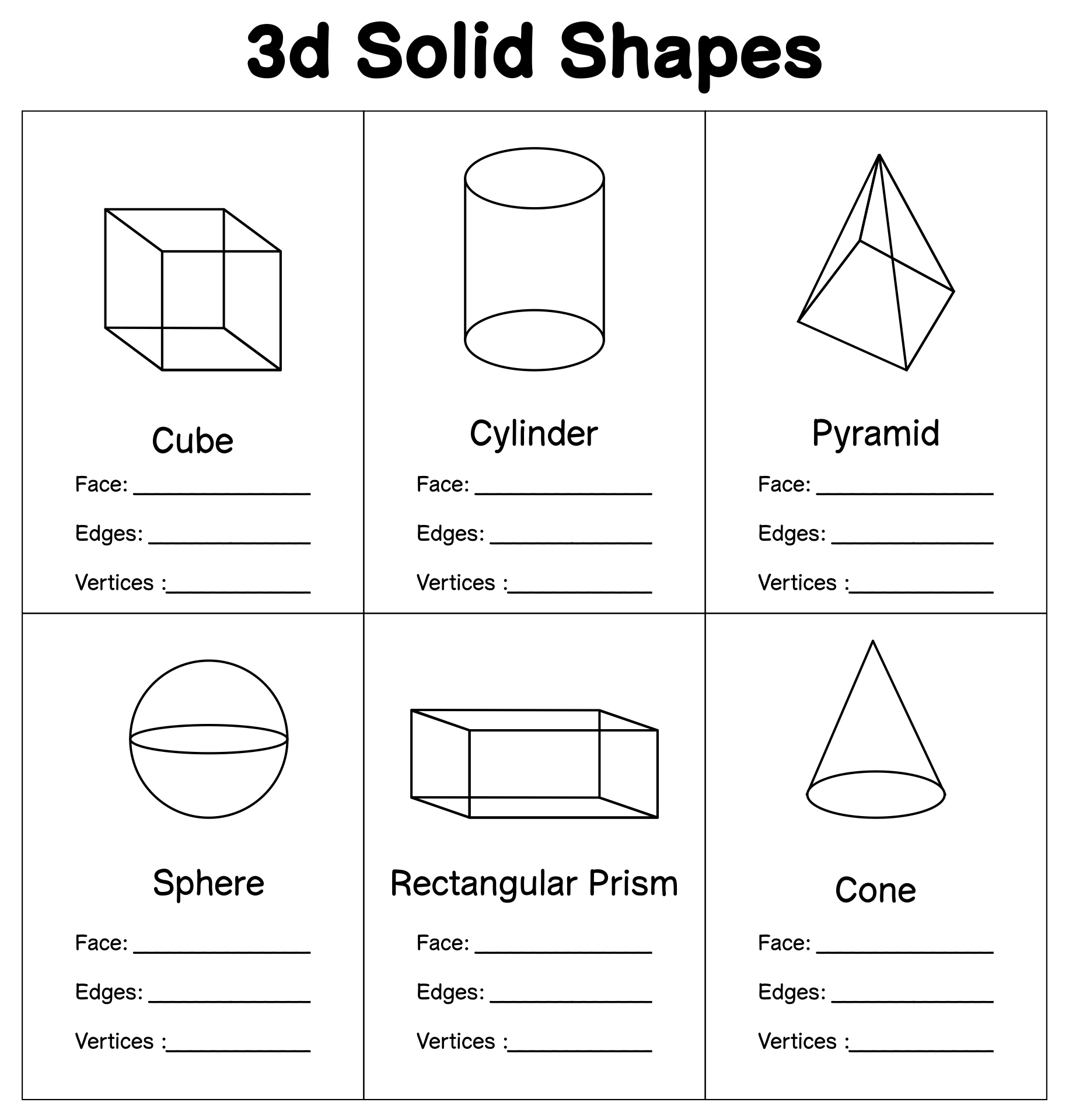 hight resolution of Draw 3d Shapes Worksheet   Printable Worksheets and Activities for  Teachers