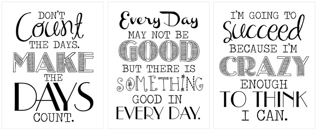 7 Best Images of Inspirational Work Printables