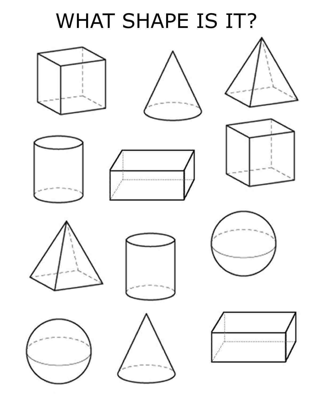 4 Best Images Of Worksheets 3d Shapes Printable