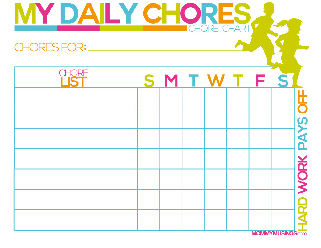 8 Best Images Of Printable Daily Chores Schedule
