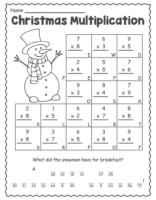 small resolution of 4 Best Printable Worksheets For 1st Grade Christmas Activities -  printablee.com