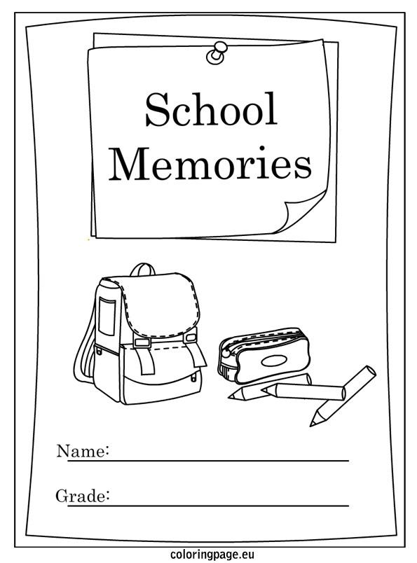9 Best Images of School Memory Book Printable Coloring