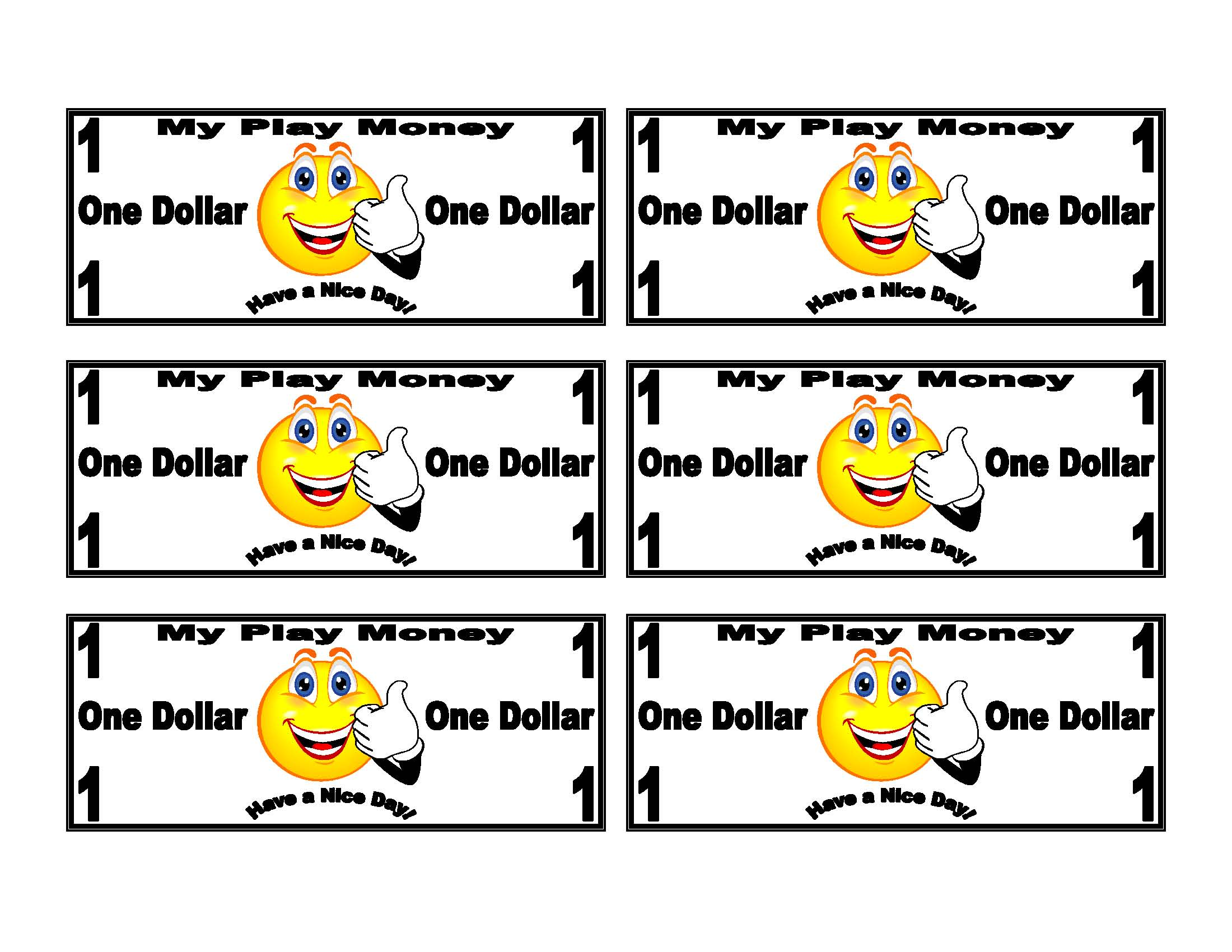 7 Best Images Of Printable Funny Money