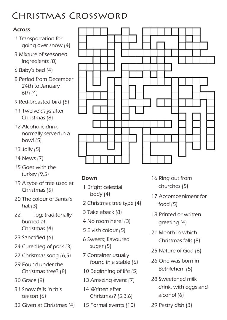 5 Best Images Of Printable Christian Crossword Puzzles