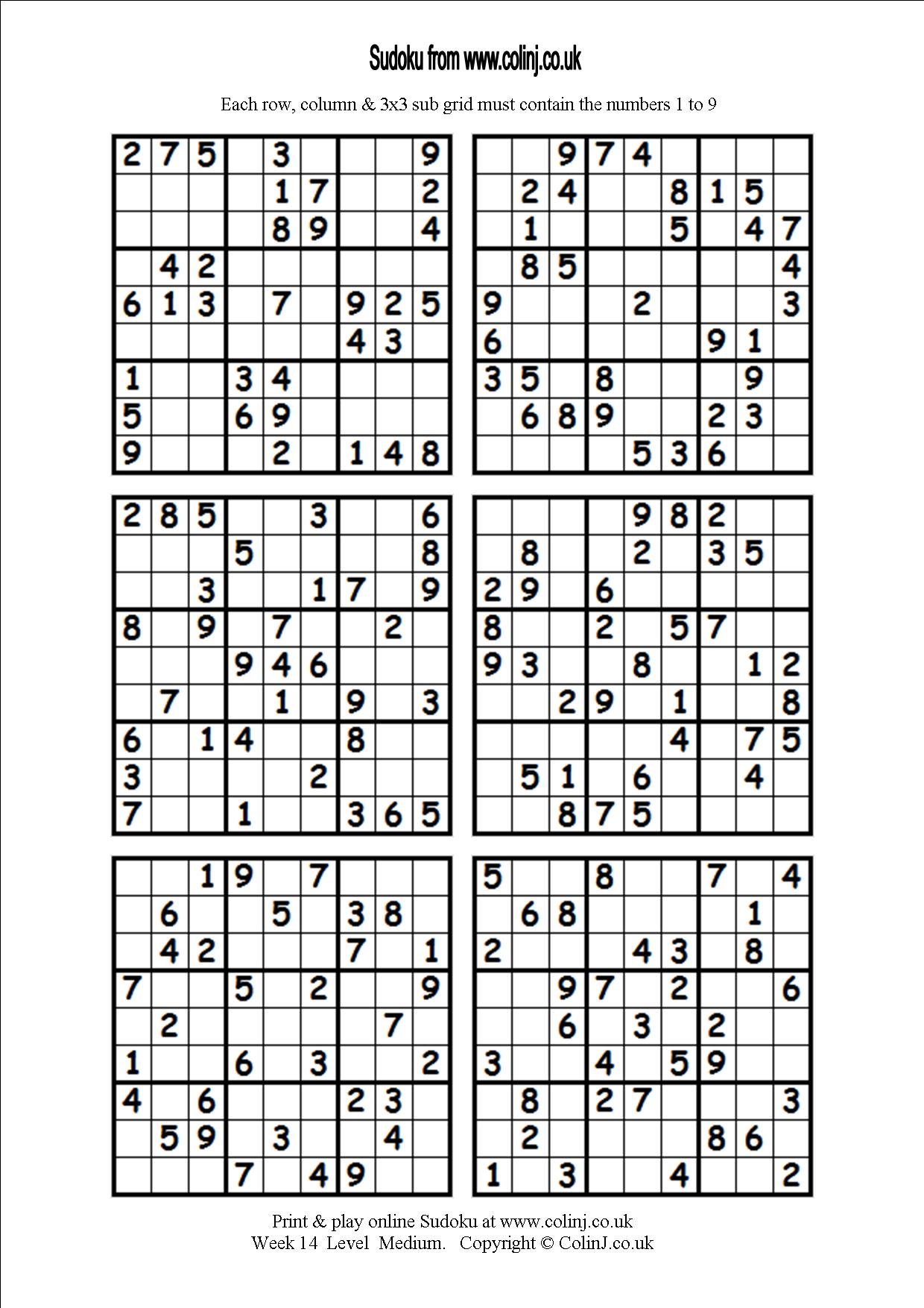 Printable Blank Sudoku 4 Per Page That Are Candid
