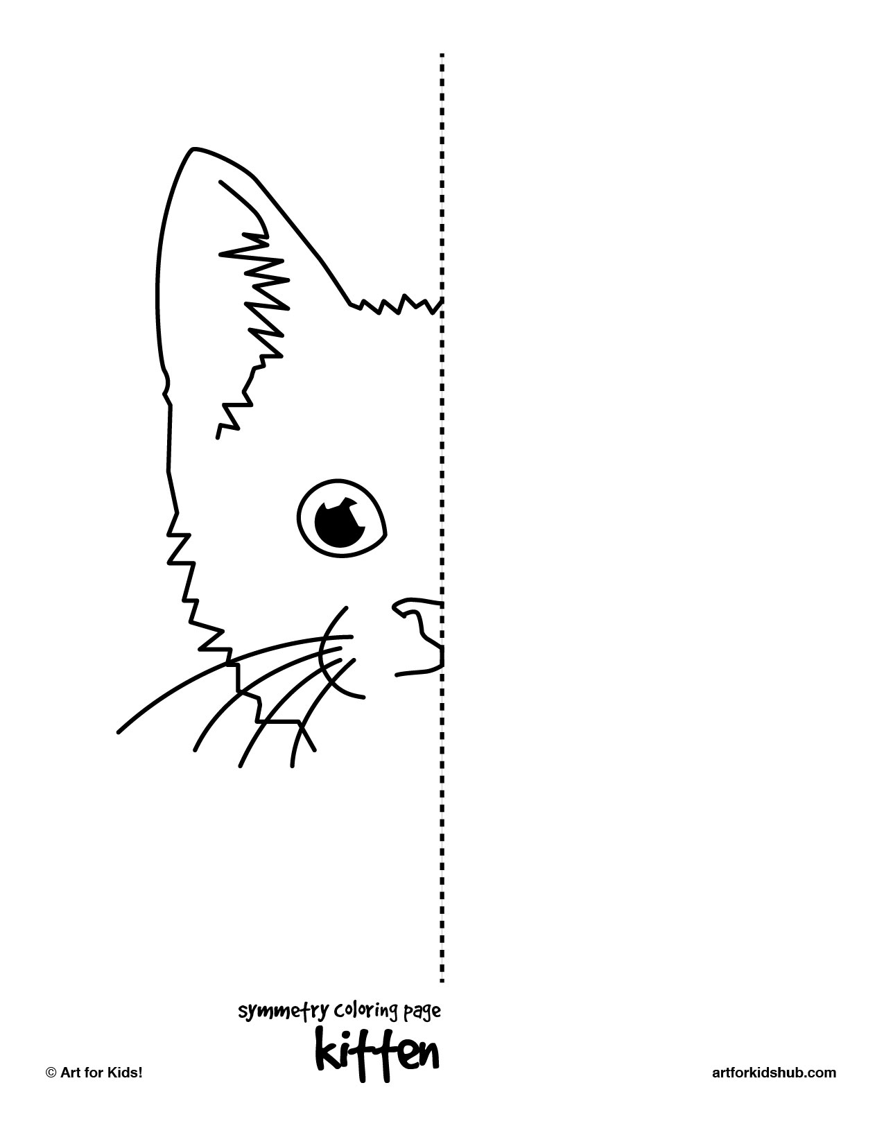 6 Best Images Of Symmetry Complete The Drawing Printables