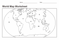 5 Best Images of World Map Printable Worksheet - World Map ...