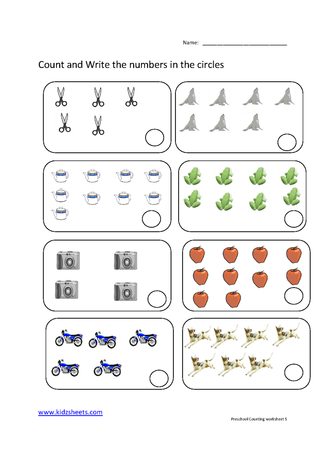 4 Best Images Of Printable Preschool Counting Worksheets