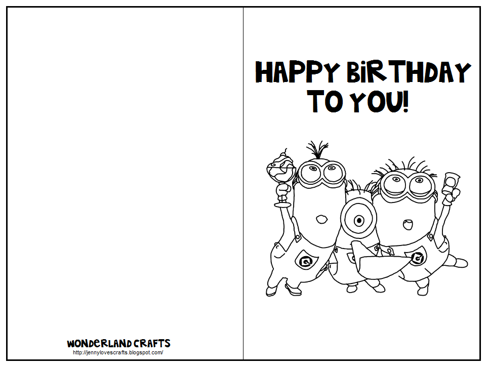 Half Fold Birthday Card Templates