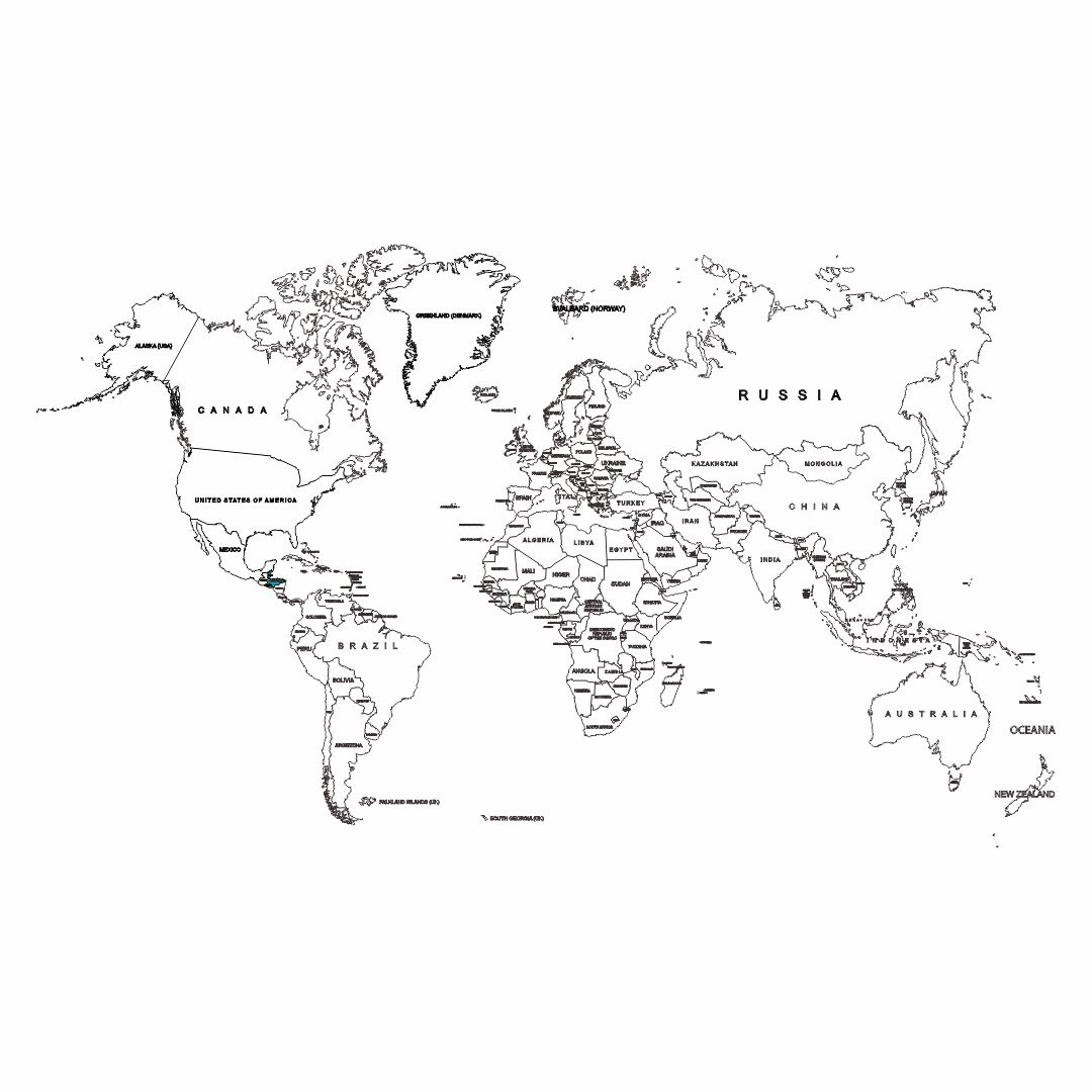 6 Best Printable World Map Not Labeled