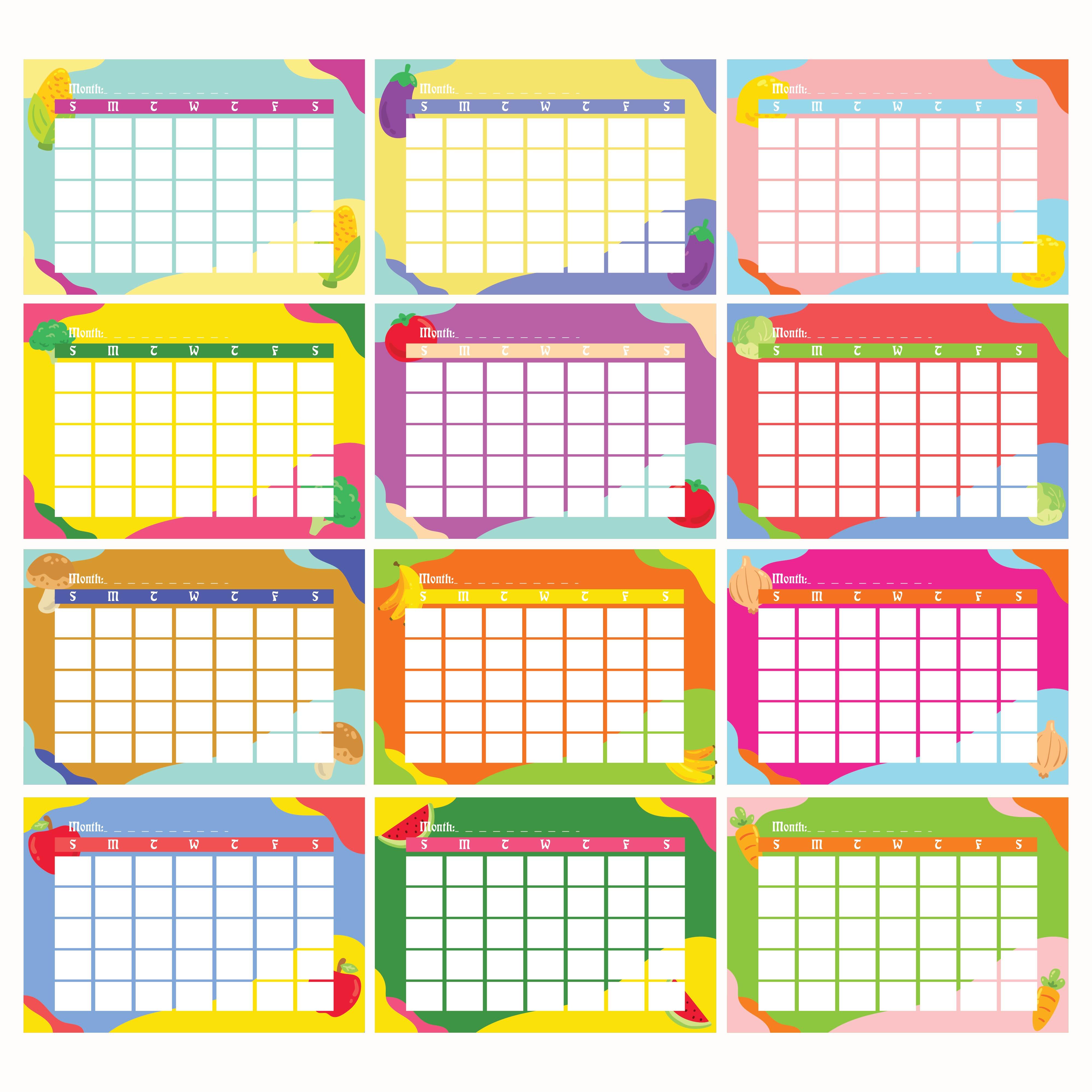 7 Best Kindergarten Monthly Calendar Printable
