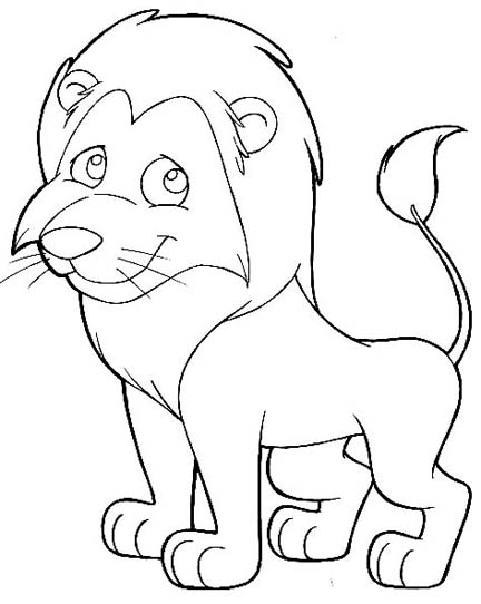 Mtn Pages Coloring Lion