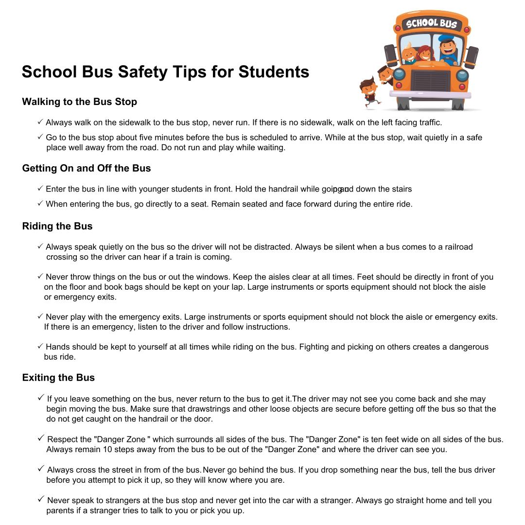 4 Best Images Of Printable School Bus Rules