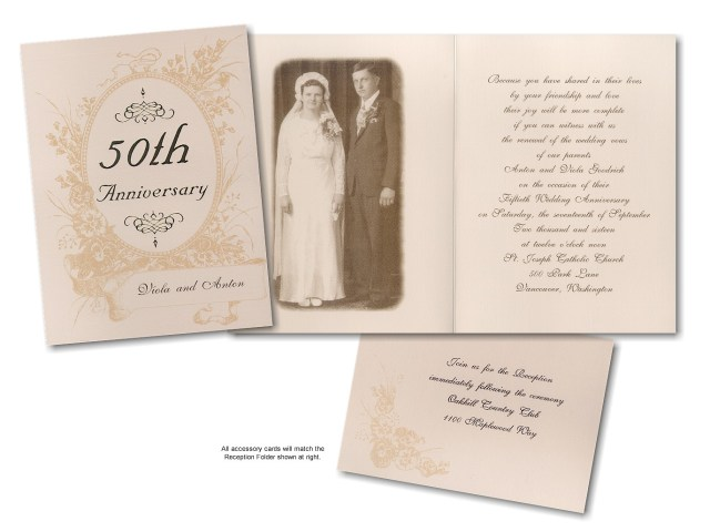 Traditional Wedding Anniversary Invitation Template
