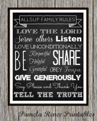 7 Best Images of Printable Family Rules Wall Art ...