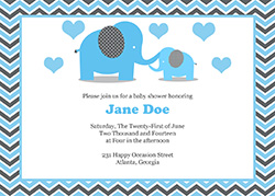 free printable elephant baby shower invitations, Baby shower invitations
