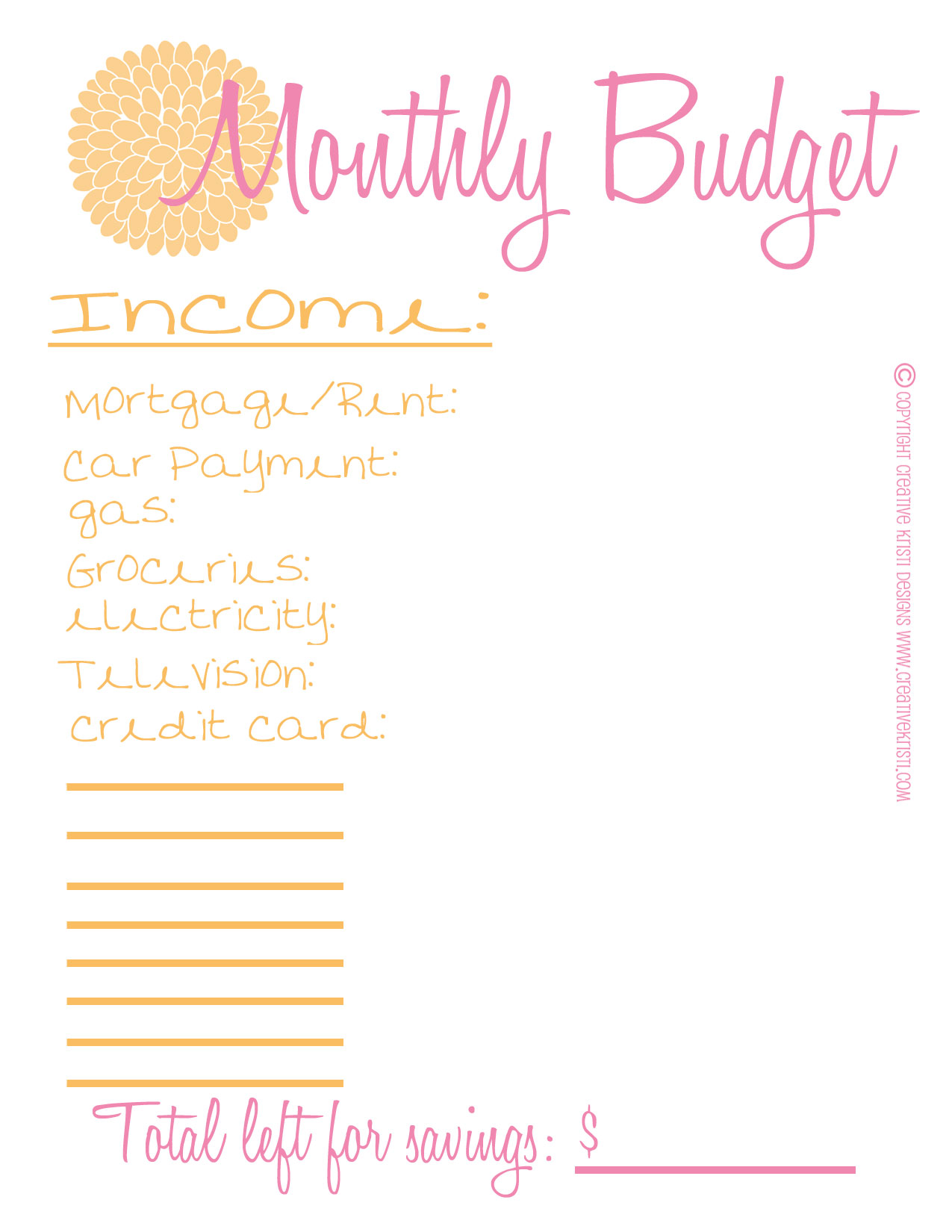 6 Best Personal Monthly Budget Worksheet Printable