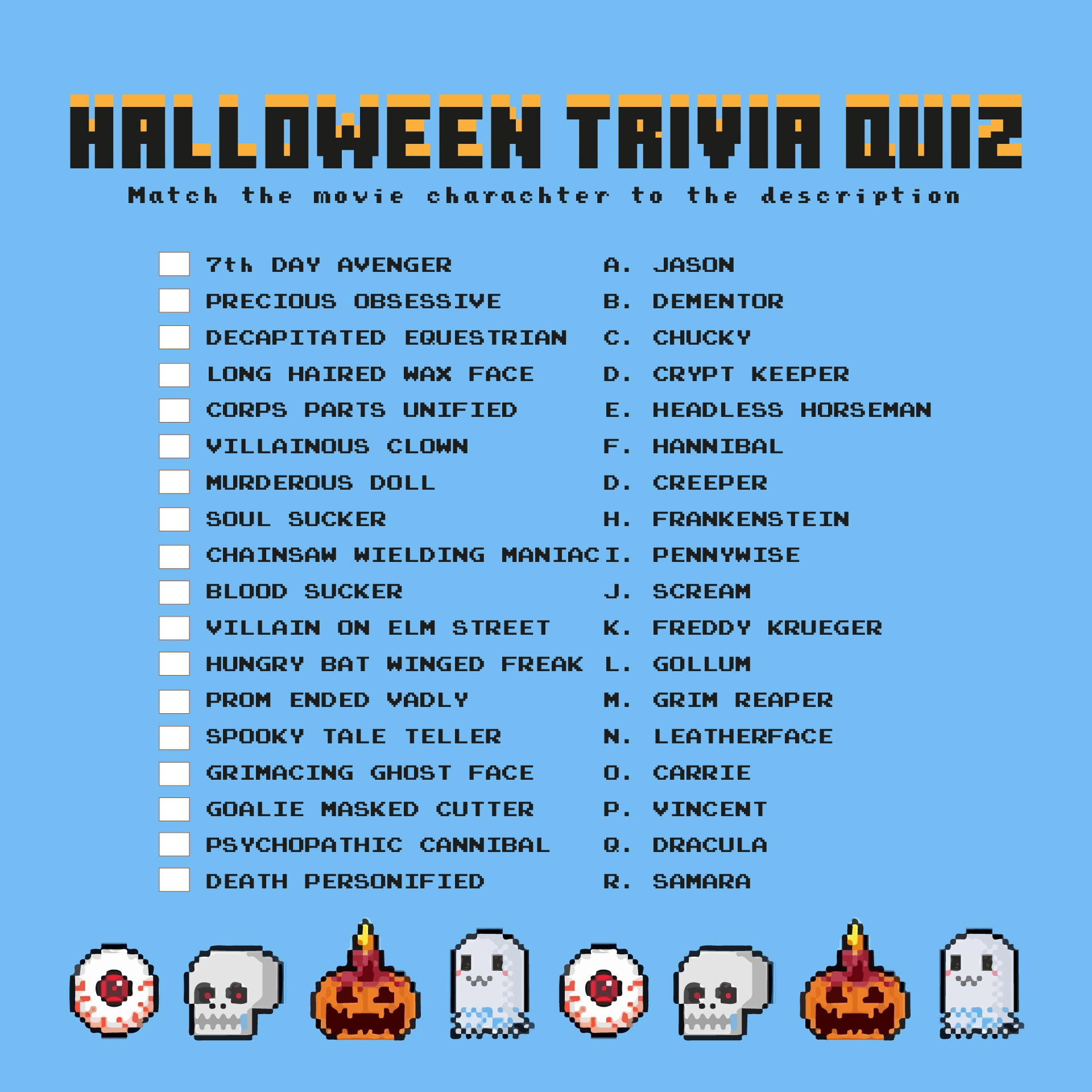 7 Best Images Of Printable Halloween Trivia And Answers