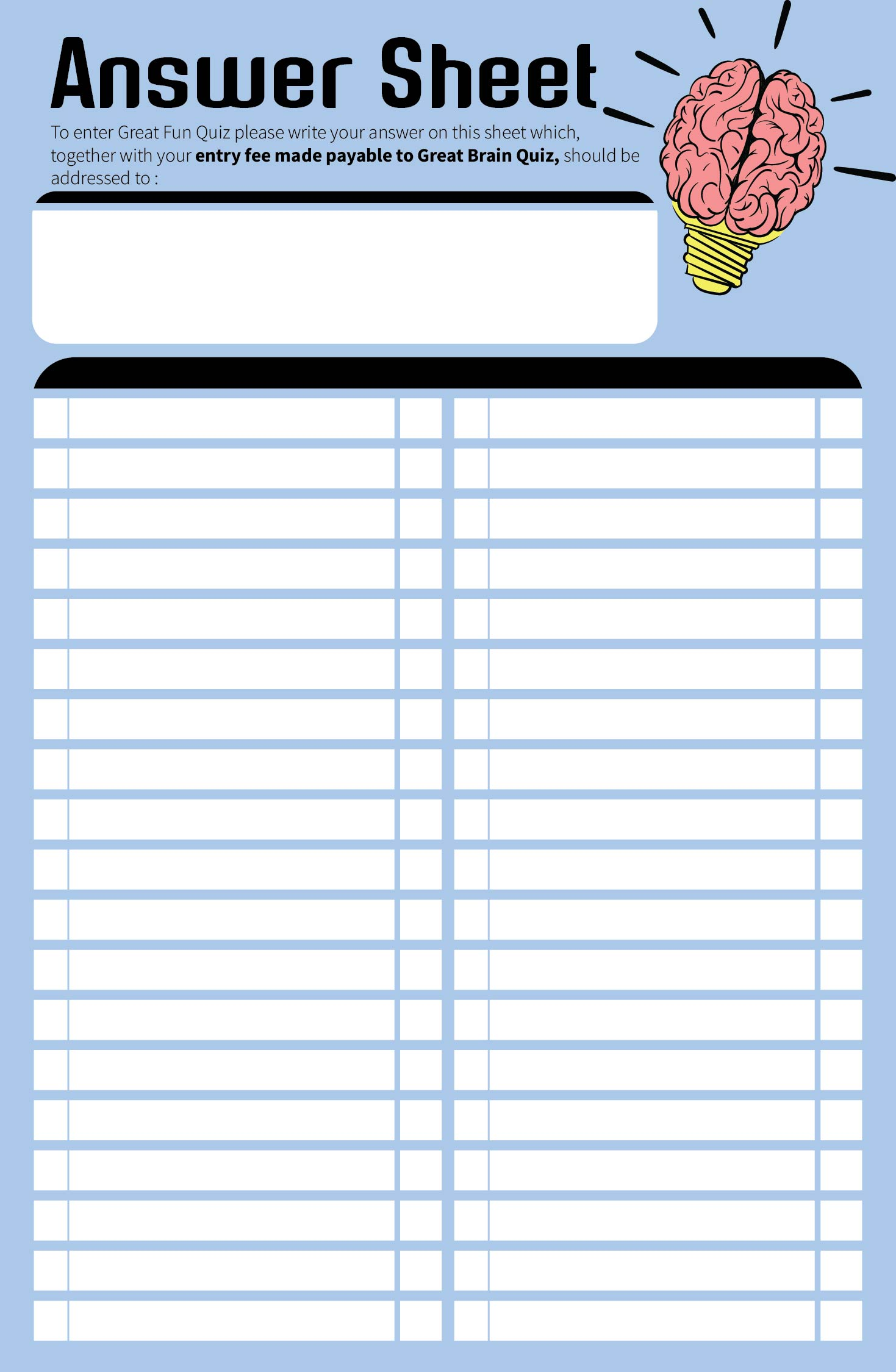 6 Best Images Of Blank Scattergories Answer Sheets Printable