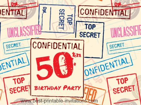 8 Best Images Of Surprise 50th Birthday Invitations