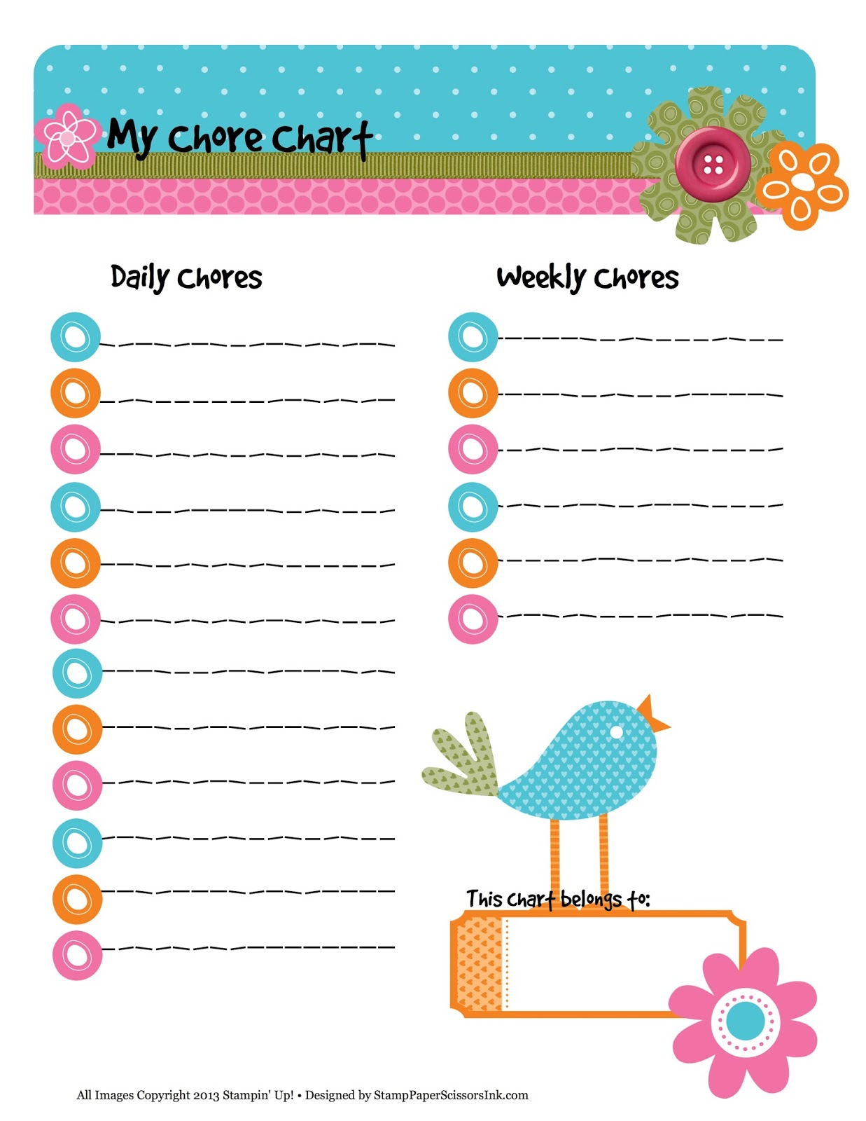 8 Best Images Of Printable Weekly Chore List Chart