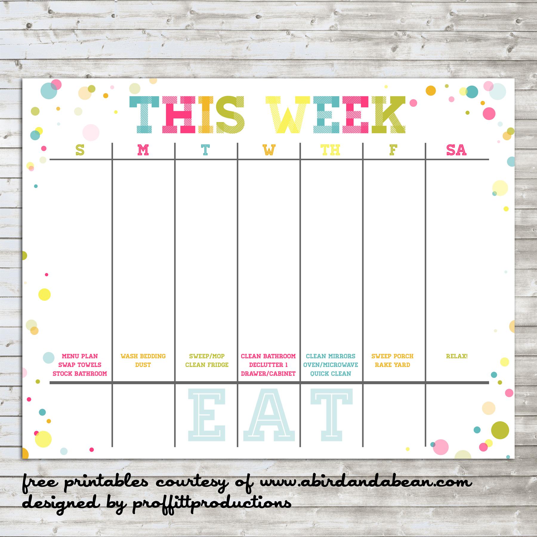 7 Best Images Of Printable Calendar Week 1