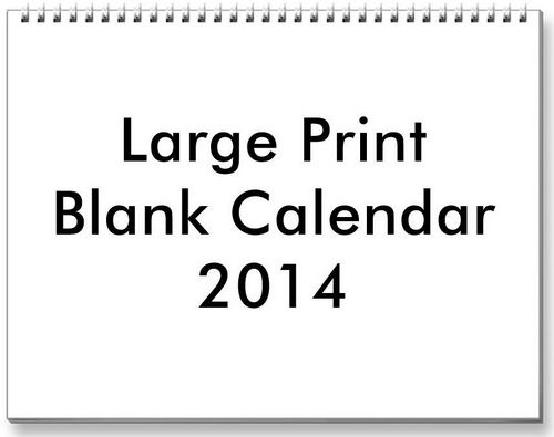 4 Best Images of 2014 Calendar Printable Large Print