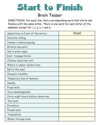10 Best Images of Adult Cognitive Worksheets Printable ...