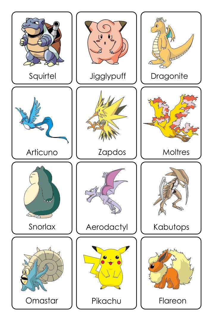 Printable Pokemon Card Character