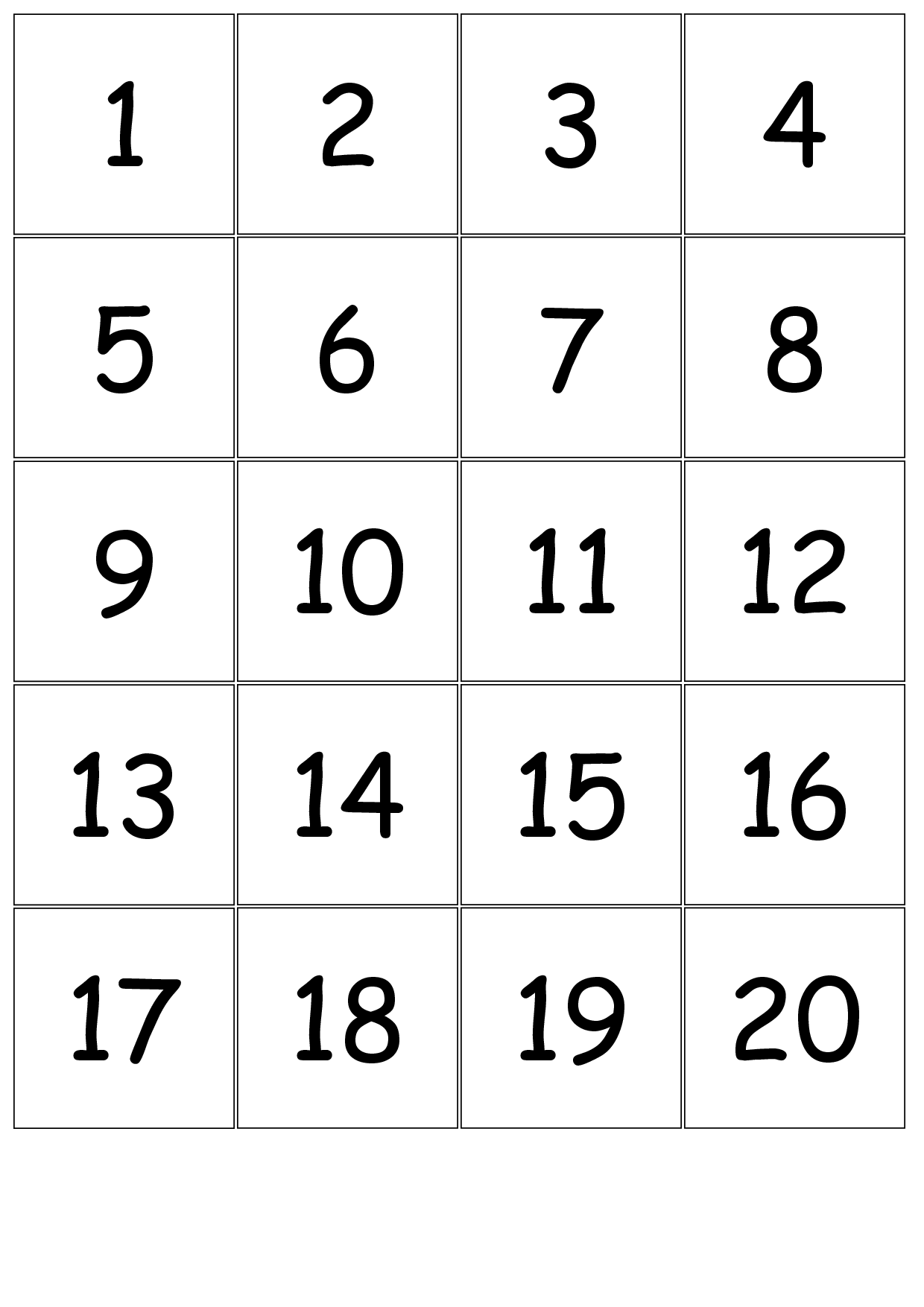 4 Best Images Of Printable Number Cards 0 12