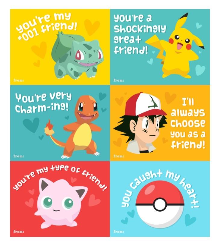 Pokemon Valentine Card Printable