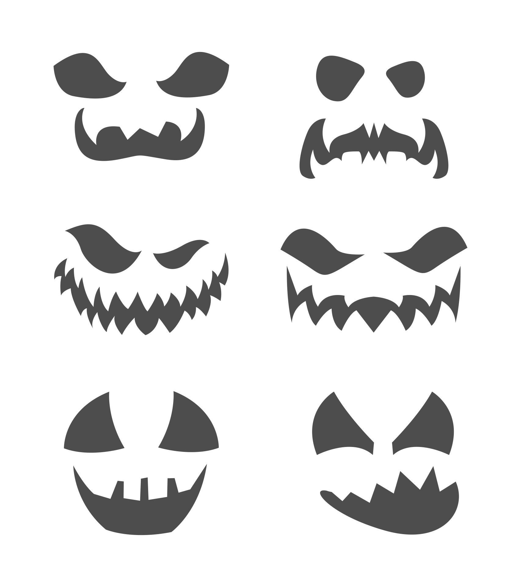 8 Best Pumpkin Cutouts Printable Printablee Com