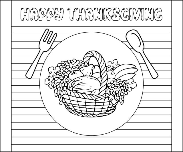 30 Best Free Printable Thanksgiving Coloring Placemats - printablee.com