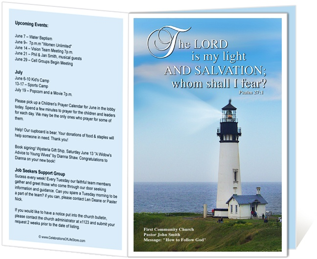 8 Best Images Of Church Bulletin Templates Free Printable