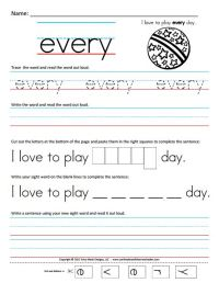7 Best Images of Sight Words Printable Worksheets