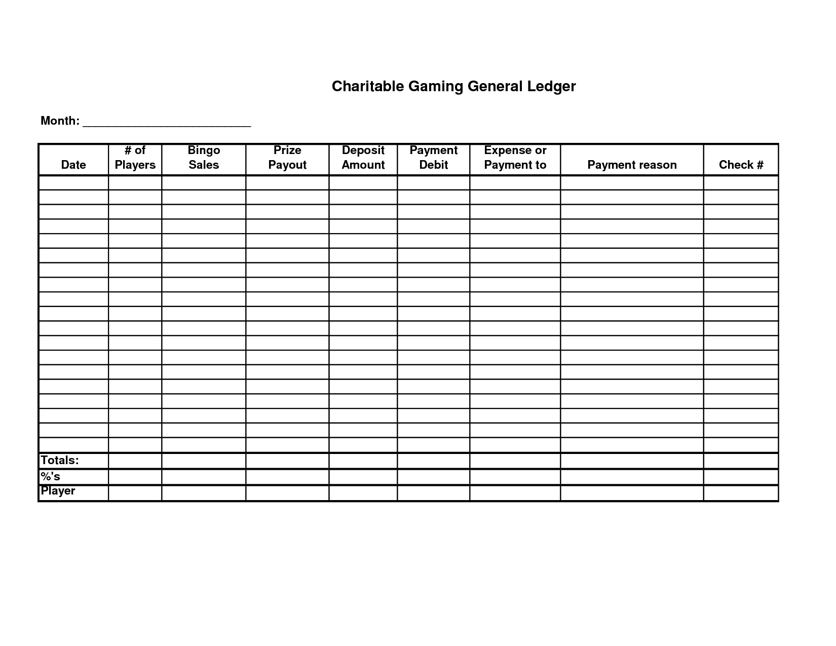 8 Best Images Of Printable Ledger Worksheet